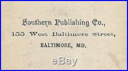 Ca 1860's CIVIL WAR CDV CONFEDERATE OFFICER by SOUTHERN PUBLISHING Co