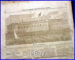 Cadmus M. Wilcox CONFEDERATE Illustrated Civil War RICHMOND VA 1864 Newspaper