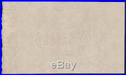 Captured Confederate States CIVIL War Csa Watermarked Currency Paper Block Pcgs