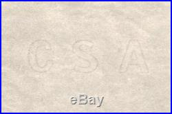 Captured Confederate States CIVIL War Csa Watermarked Paper Block Uncirculated