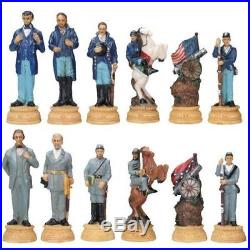 Chess Set Union and Confederate Soldiers U. S. Civil War