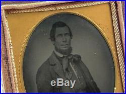 Civil War 1/6 TinType Photo Charles T Richardson Virginia Confederate Surgeon