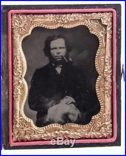 Civil War 1/9 Plate Iron TinType Photo James Bowen Mosby's Rangers Confederate