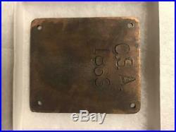 Civil War 1863 Cherokee Confederate Soldier Breast Plate