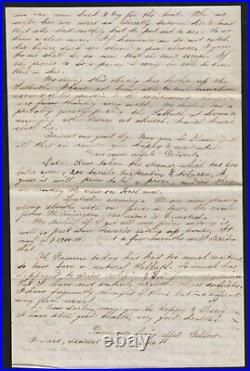 Civil War 20-pg letter 7/29-8/16/1863 capture of a Confederate blockade runner