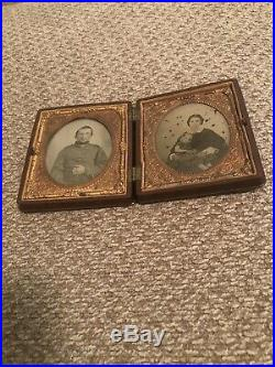 Civil War 6th Plate Ruby Ambrotype Confederate Soldier Richmond Type II Jacket
