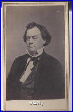Civil War CDV Confederate Congressman/Secy of State Robert A Toombs of Georgia