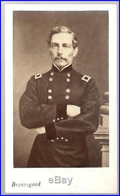 Civil War CDV Confederate General PGT Beauregard