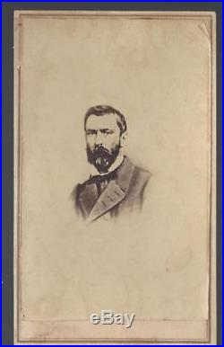 Civil War CDV Confederate General Richard Taylor Fought in Louisiana