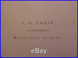 Civil War CDV Photograph Confederate JAMES LONGSTREET withMontgomery, Ala Back Mark