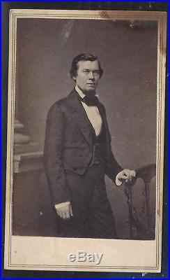 Civil War CDV of Confederate Secret Agent and Spy Jacob Thompson Rare