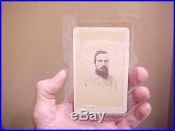 Civil War CONFEDERATE Soldier CDV Photograph bm VAN RIPER, COLUMBUS, GEORGIA Rare