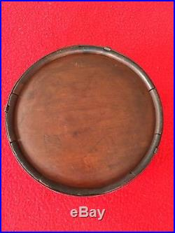 Civil War CONFEDERATE Wood Canteen with Soldier Engraving wood Drum
