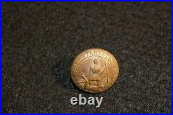 Civil War CSA Confederate Virginia Militia'Sic Semper Tyrannis' Uniform Button