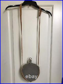 Civil War Cincinnati Arsenal Confederate Use Canteen with Split Leather Sling