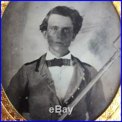 Civil War Confederate 1/6 plate Tintype