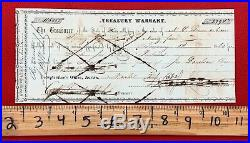Civil War Confederate 1862 Texas Treasury Warrant