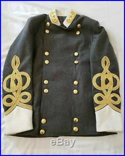 Civil War Confederate Army Military General Officers Shell Jacket Coat Tunic