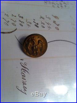 Civil War Confederate Army Officers button