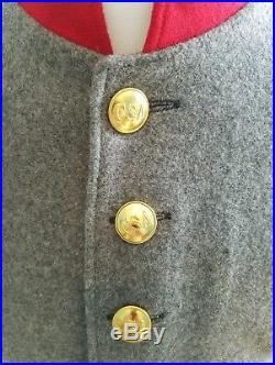 Civil War Confederate Artillery Enlisted Uniform Shell Jacket Tunic and Pants