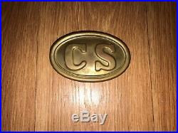 Civil War Confederate CS Belt Buckle (Brass with Lead Backing)