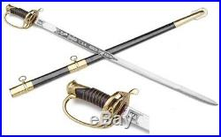 Civil War Confederate CSA Officers Sword & leather belt and Scabbard replica