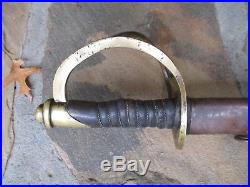 Civil War Confederate Calvary Sword Nashville Plow Works