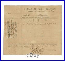 Civil War Confederate Document Assigning James Chesnut to 2nd South Carolina Vol