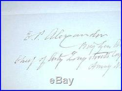 Civil War Confederate General Edward Porter Alexander Autographed Signed Note