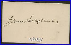 Civil War Confederate General James Longstreet Autograph