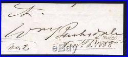 Civil War Confederate General William Barksdale Cut Signature
