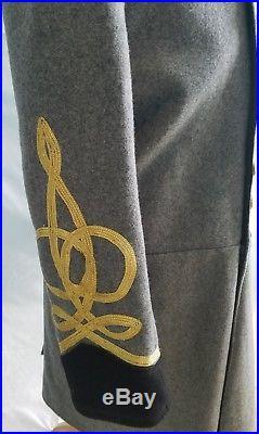 Civil War Confederate Generals Officers Uniform Frock Coat Overcoat Jacket Tunic