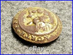 Civil War Confederate Gold North Carolina Button NC 8 Locust Grove, VA 23mm