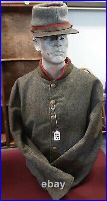 Civil War Confederate Jacket Coat J. H. Silverberg Hat WORN IN MOVIE GETTYSBURG