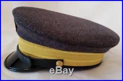 Civil War Confederate Naval Admiral General Officers Wool Visor Hat Cap Kepi