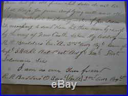 Civil War Confederate POW Letter Fort Delaware Prison to Northern Schoolmate