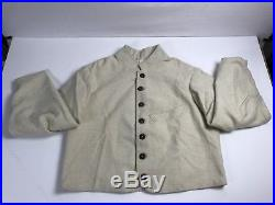 Civil War Confederate Penitentiary Jacket Size 46 Wool with Plaid Lining
