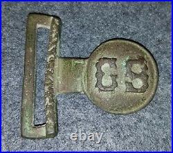 Civil War Confederate Rare Haiman Style Waist Belt Plate Tongue Only