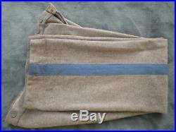 Civil War Confederate Sargent Infantry Wool Pants Handmade Gettysburg PA 38
