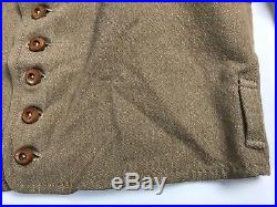 Civil War Confederate Shell Jacket Size 48 Brown Jean Wool 9 wood buttons