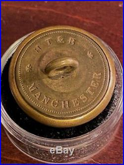 Civil War Confederate South Carolina Coat Button HT And B SC15A