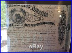 Civil War Confederate States 1864 Bond Uncut with All Coupons Attached