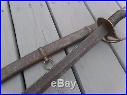 Civil War Confederate States of America Child's Sword Original Scabbard CHARLIE