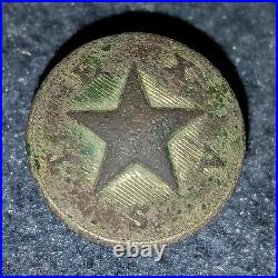 Civil War Confederate Texas Button Excavated Stephens City, Va. Gen. Hood Camp