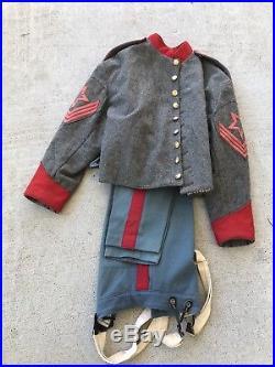 Civil War Confederate Uniform Reenacting Reenactor Shell Coat W Pants Artillery