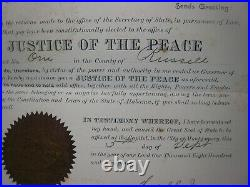 Civil War Confederate War Hero Document Signed. Alabama Gov. Thos. G. Jones