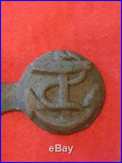 Civil War Confederate naval buckle extremely rare