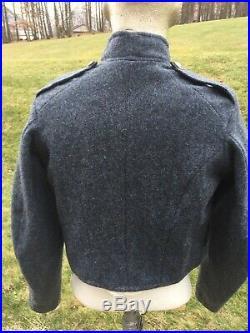Civil War Confederate shell jacket, Richmond Depot Type II, size 40