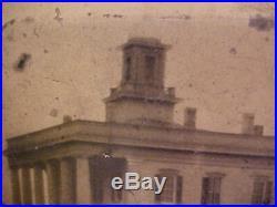 Civil War Era 1/6 Tintype Photograph CONFEDERATE WHITE HOUSE Exterior OUTSIDE