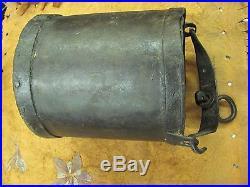 Civil War Era Iron Cannon Water Sponge Bucket Grease Tar Pail Confederate Union
